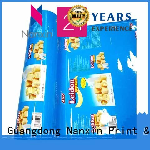 Nanxin Print & Packaging pet/vmpet/pe laminated packaging films long save time candy