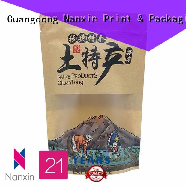 Nanxin Print & Packaging resealed zipper stand up pouch bags for business fpr snacks