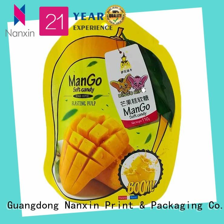 Nanxin Print & Packaging hanging hole stand up ziplock pouch wholesale for dried fruit or vegetable