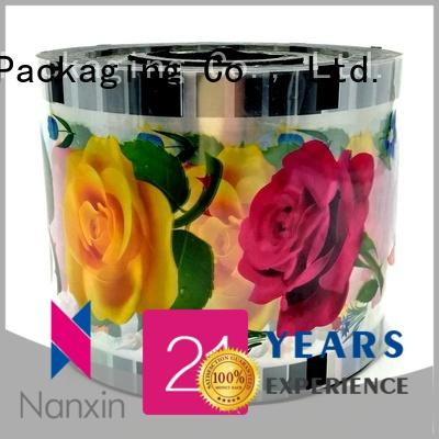 Nanxin Print & Packaging fashion cup sealer film food grade material jelly