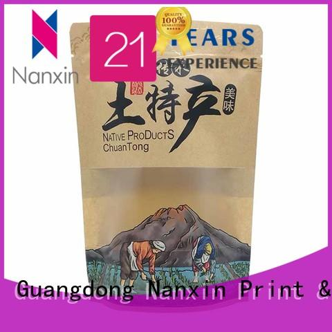Nanxin Print & Packaging resealed zipper stand up pouch bag wholesale for dried fruit or vegetable