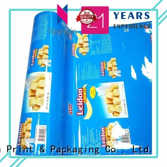 Nanxin Print & Packaging customized packaging film pet/al/cpp cookies