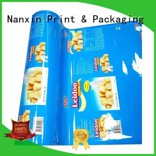 automatic printed laminated film for food packaging photorealistic graphics cookies Nanxin Print & Packaging