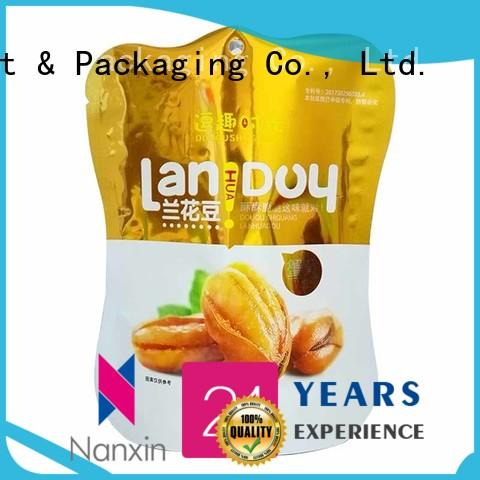 Nanxin Print & Packaging resealed zipper stand up pouch packaging easy reclosing dried fruit or vegetable