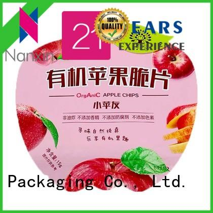 pet/al/pe pouch packaging innovative pattern foods Nanxin Print & Packaging