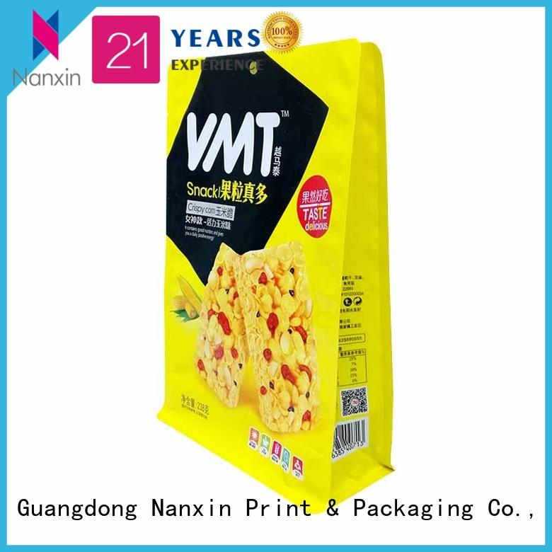 Nanxin Print & Packaging customized gusset pouch attractive snack
