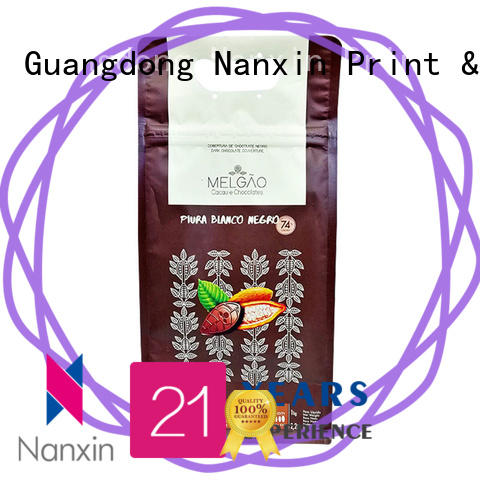 Nanxin Print & Packaging customized flat bottom gusset bags firm snack