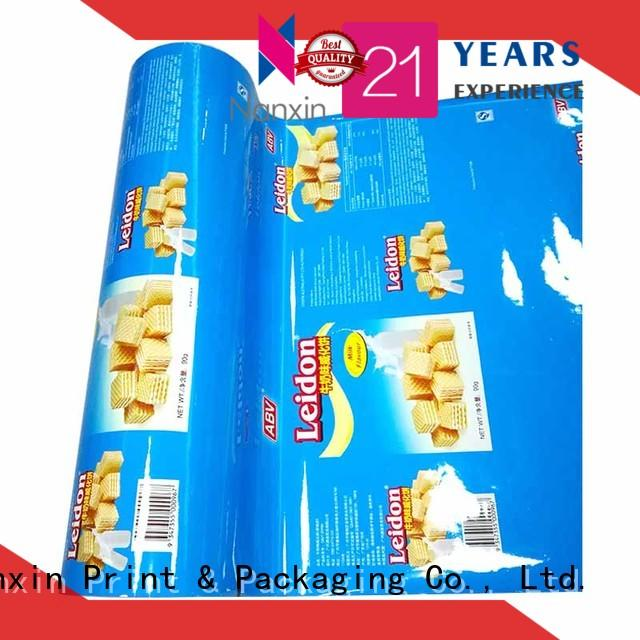 multicolored laminated film for food packaging highlight glossy low cost pudding