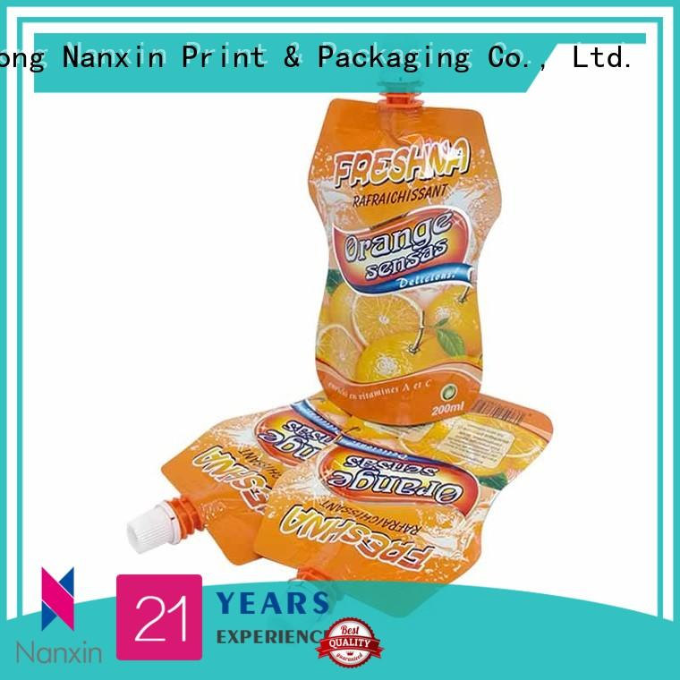 Nanxin Print & Packaging Latest spout bag for business for juice