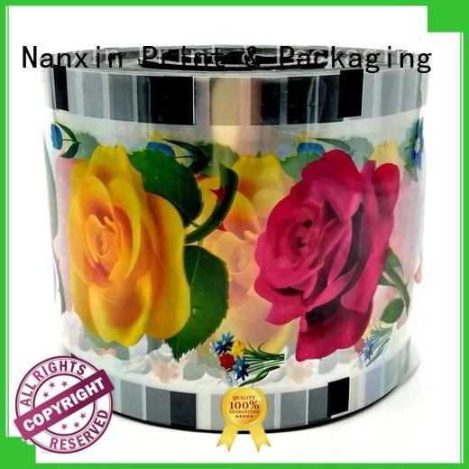 Nanxin Print & Packaging semi-transparent automatic cup sealing roll film adorable shop mall