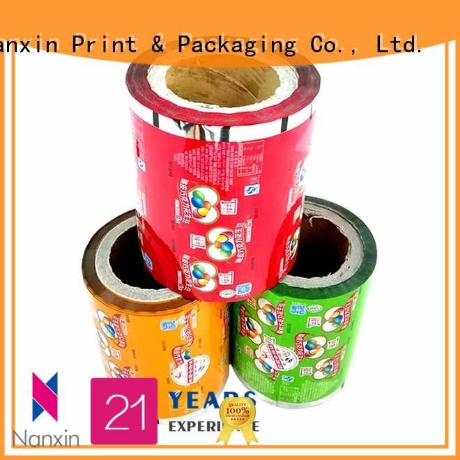 Customized PET/VMPET/PE food laminated packaging films for peanut chocolate bean &candy