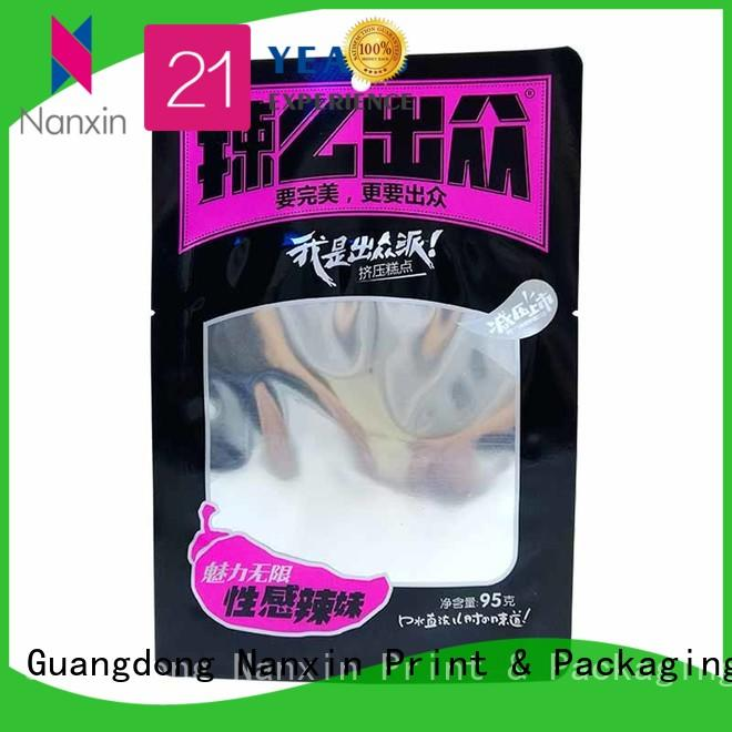 Nanxin Print & Packaging oxygen proof food packaging pouches strong sealing liquids