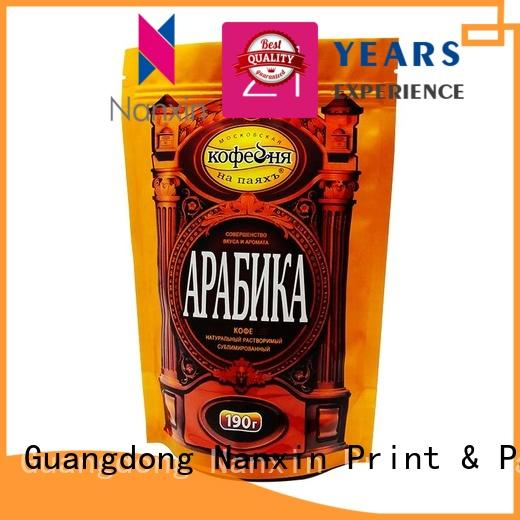 Nanxin Print & Packaging Top stand up ziplock pouch company for dried fruit or vegetable