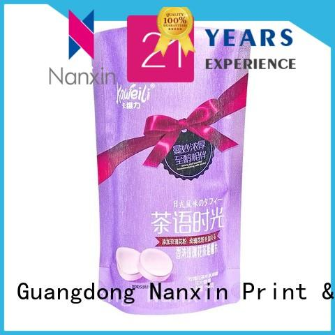 Nanxin Print & Packaging fashionable food packaging bags strong sealing snacks