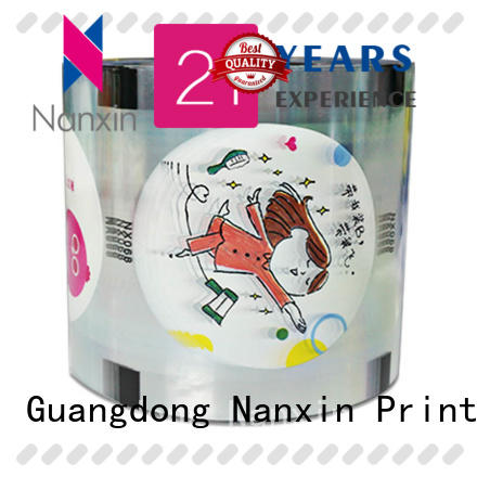 customized cup sealing film transparent adorable jelly