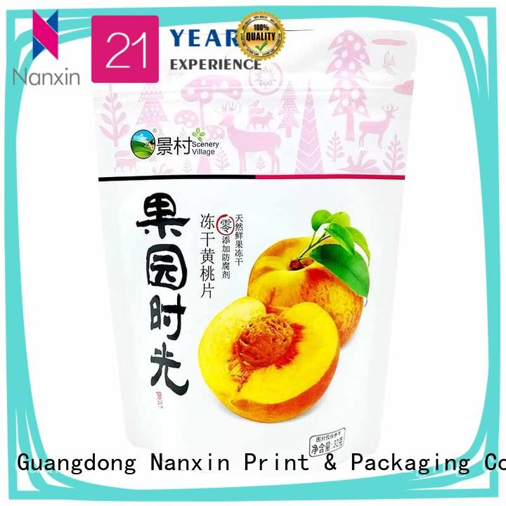 Nanxin Print & Packaging easy shelf display stand pouch bag resealed zipper Pet foods