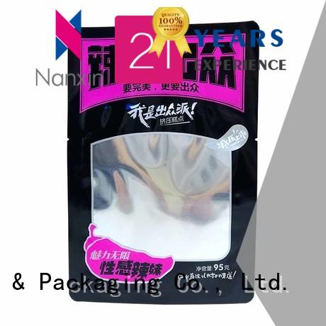 95g fashionable shape three side seal food packaging bag for spicy strip