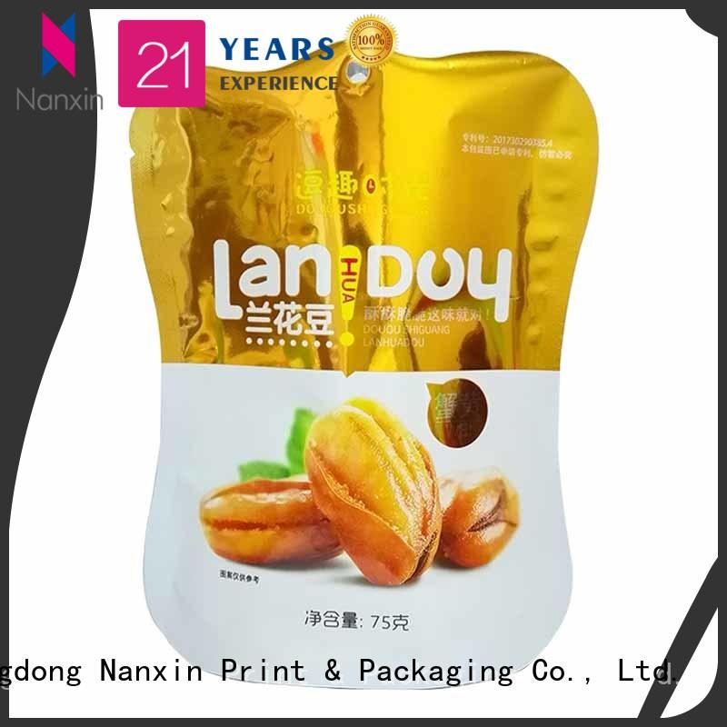 Nanxin Print & Packaging zipper standing up pouch company for dried fruit or vegetable