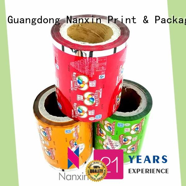 Nanxin Print & Packaging customized laminated packaging films photorealistic graphics pudding