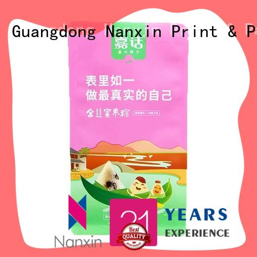 Nanxin Print & Packaging flat bottom shape gusset pouch factory for snack
