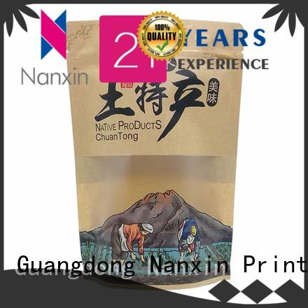 Nanxin Print & Packaging easy shelf display stand up zipper bag plastic dried fruit or vegetable
