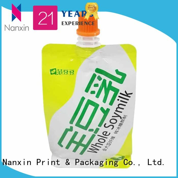 special shape spout pouch packaging high capacity lotion Nanxin Print & Packaging