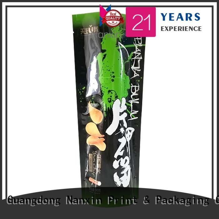 Nanxin Print & Packaging kraft paper stand up pouch packaging easy reclosing Pet foods