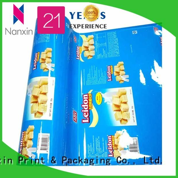customized printed film packaging pet/al/cpp long save time candy