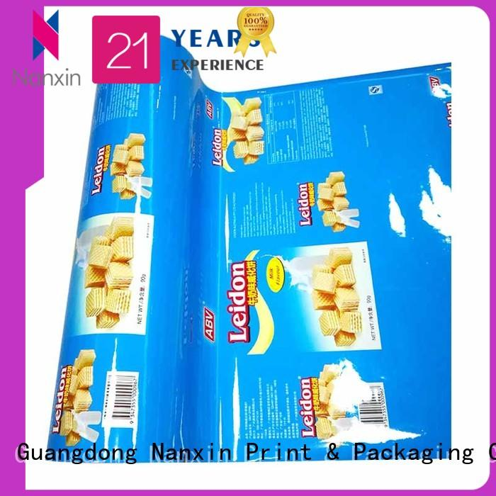 Nanxin Print & Packaging customized laminated films and packaging pet/al/cpp pudding