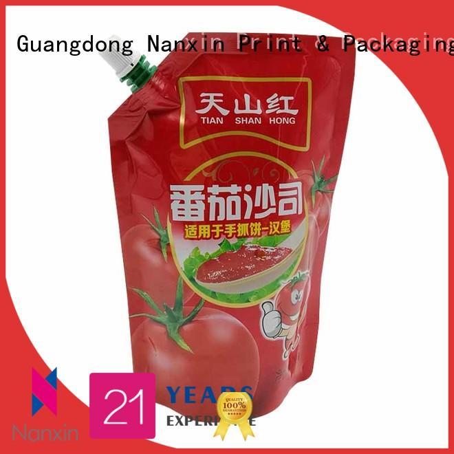 Nanxin Print & Packaging cost-effective liquid spout bag hygienic sauce