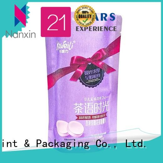 Top pouch packaging three side supply for liquids