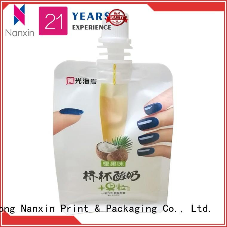 Nanxin Print & Packaging easy carry handle spout bag suppliers for yoghurt