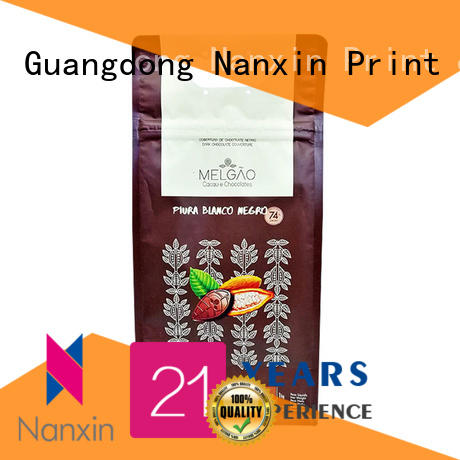 Nanxin Print & Packaging zipper flat bottom pouch company for cookies