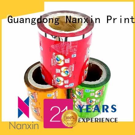 Nanxin Print & Packaging pet/vmpet/pe printed film packaging supply for cookies