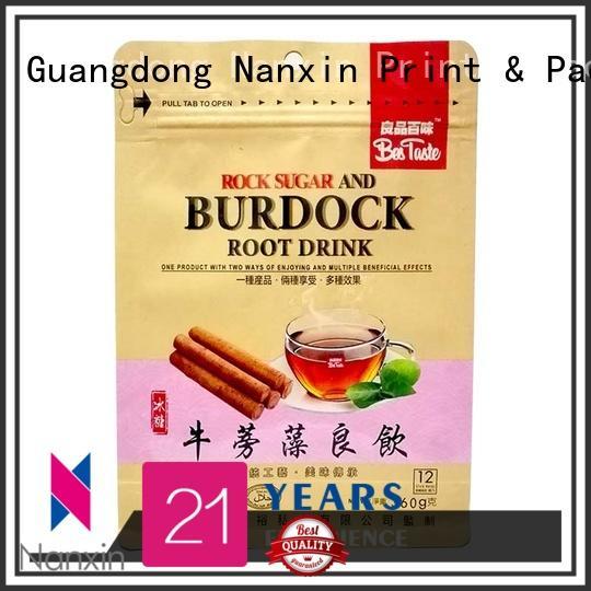 Nanxin Print & Packaging zipper flat bottom gusset bags attractive cookies