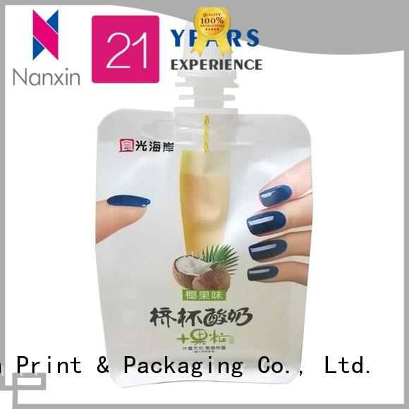 Nanxin Print & Packaging novel pattern liquid spout bag supply for sauce