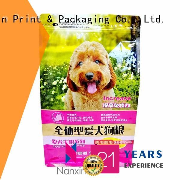 Nanxin Print & Packaging oxygen proof flat bottom bag firm snack