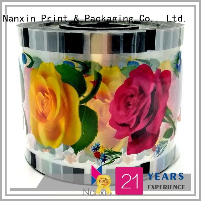 Nanxin Print & Packaging semi-transparent cup sealing film factory for shop mall