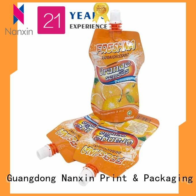 Nanxin Print & Packaging Custom spout pouch for business for lotion