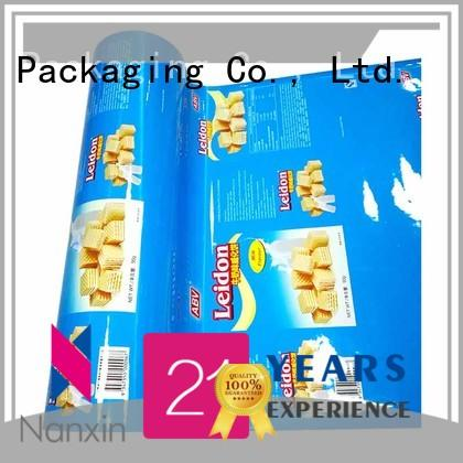 Nanxin Print & Packaging Custom laminated packaging films supply for pudding