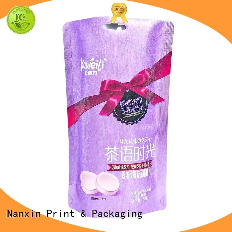 Nanxin Print & Packaging oxygen proof pouch manufacturers pet/al/pe snacks