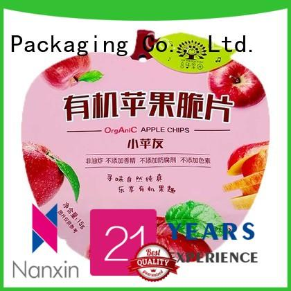 15g heat seal special apple shape plastic food packaging bag for apple chips