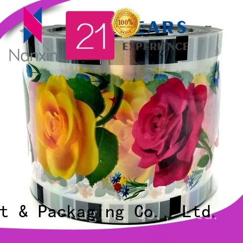 Nanxin Print & Packaging opaque color plastic cup sealing film eye-catching shop mall