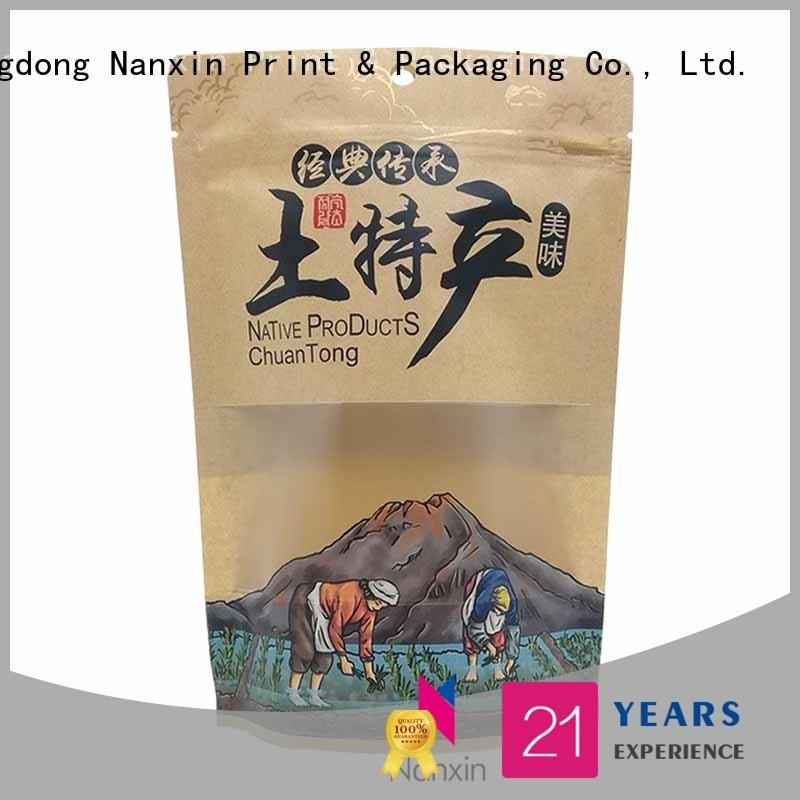 Nanxin Print & Packaging convenient stand up pouch packaging easy reclosing dried fruit or vegetable