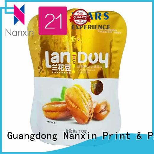 Nanxin Print & Packaging convenient stand up pouch easy reclosing Pet foods