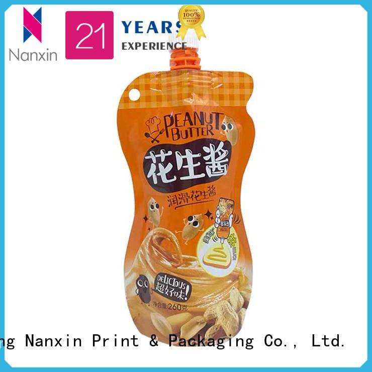 Nanxin Print & Packaging pet/pe spout pouches company for lotion