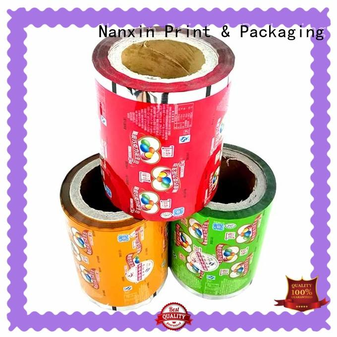metallic luster printed plastic roll long save time candy Nanxin Print & Packaging