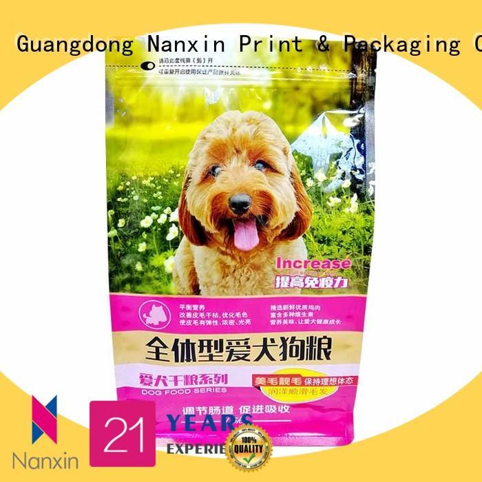 Nanxin Print & Packaging ziplock flat bottom gusset bags suppliers for foods