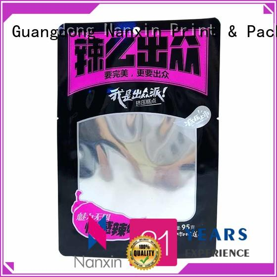 Latest food pouch packaging pet/pe supply for snacks