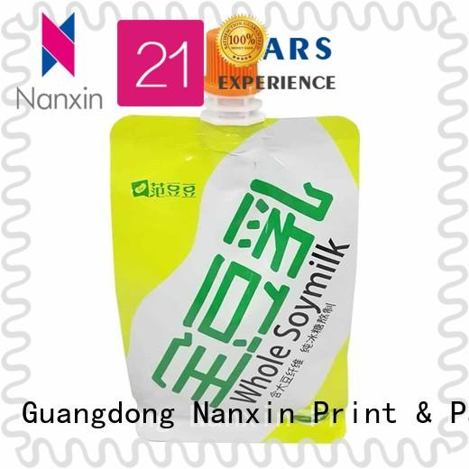 Nanxin Print & Packaging nozzle liquid spout bag high capacity juice